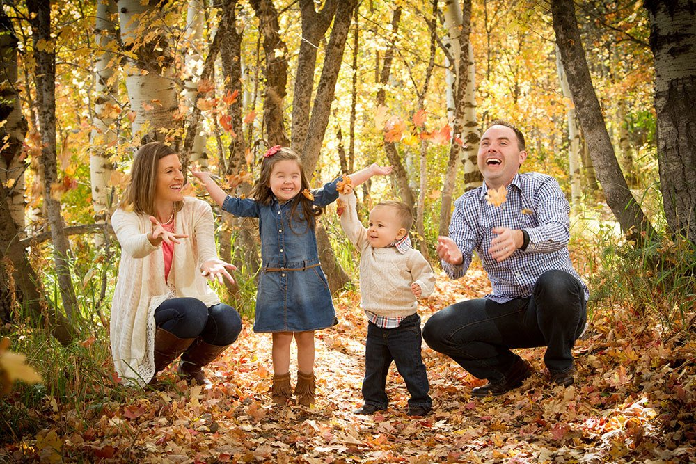 Fall Portrait young family
