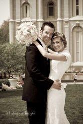 Beautiful spring wedding at the Salt Lake Temple